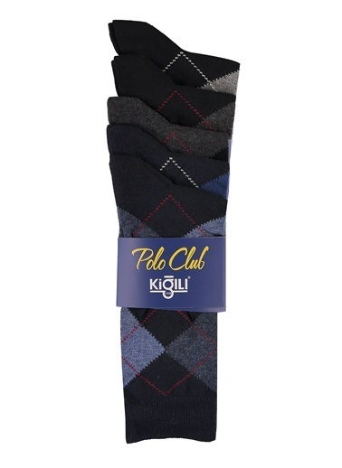 Kiğılı Kiğılı KK21NFF0ET001 Erkek 5'li Desenli Çorap Lacivert